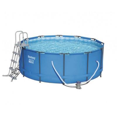 Каркасный круглый бассейн 366х133 см, 11440 л, Bestway (лестница, фильтр), 15427