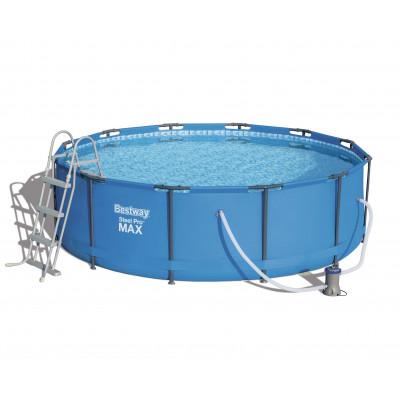 Каркасный круглый бассейн 366х100 см, 9150 л, Steel Pro Max Bestway, с фильтром и лестницей, 56418