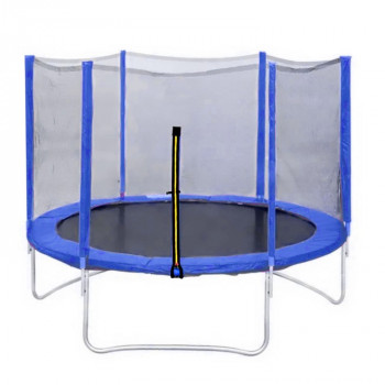 Батут DFC Trampoline Fitness с сеткой 10FT (3,05 м) синий