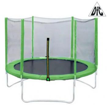 Батут DFC Trampoline Fitness с сеткой 8FT (2,44 м) салатовый