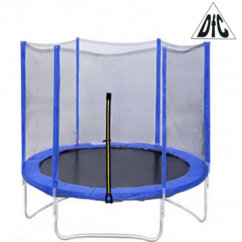 Батут DFC Trampoline Fitness с сеткой 8FT (2,44 м) синий