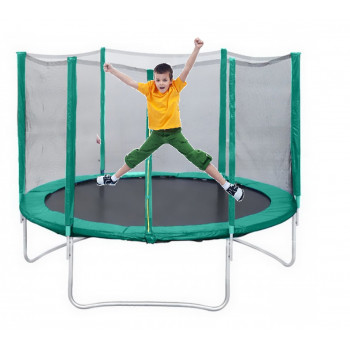 "Батут с защитной сеткой Trampoline 8"" диаметр 2,4 м"