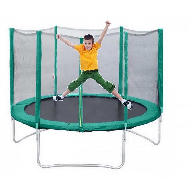 "Батут с защитной сеткой Trampoline 8"" диаметр 2,4 м."