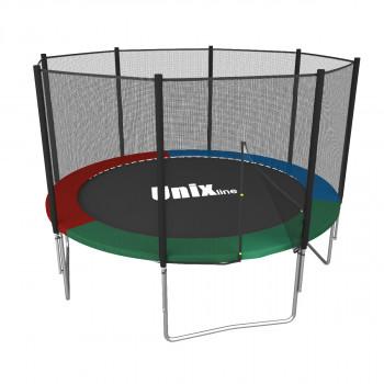 Батут UNIX line Simple 8 ft Color (inside) 244 см ВНЕШНЯЯ сетка (до 140 кг)