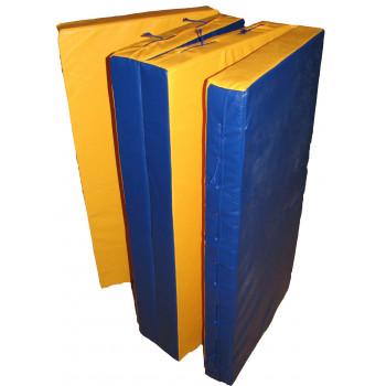 Мат гимнастический складной в 4 раза 2х1,0х0,1 метра